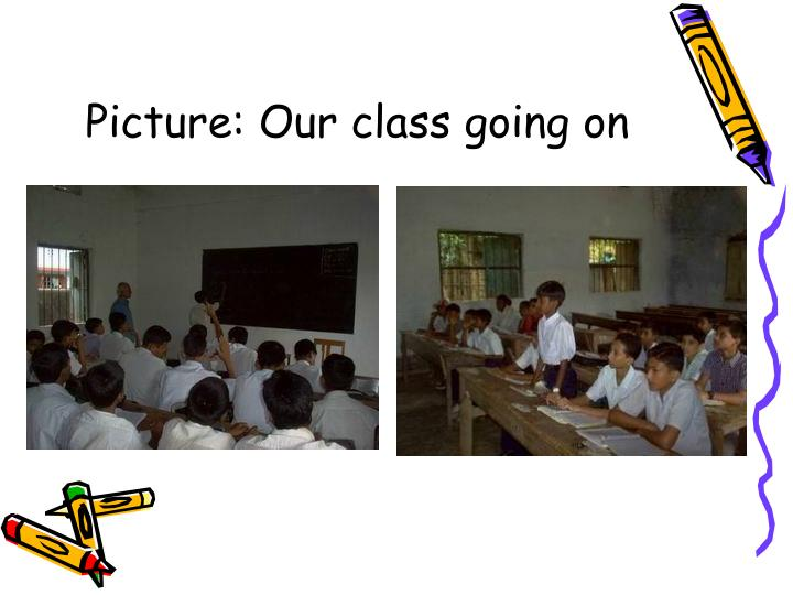 Picture our class going on