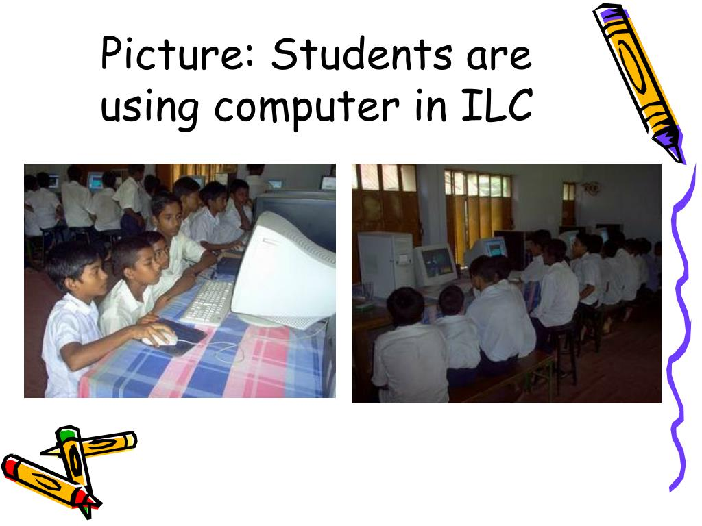 Picture: Students are using computer in ILC