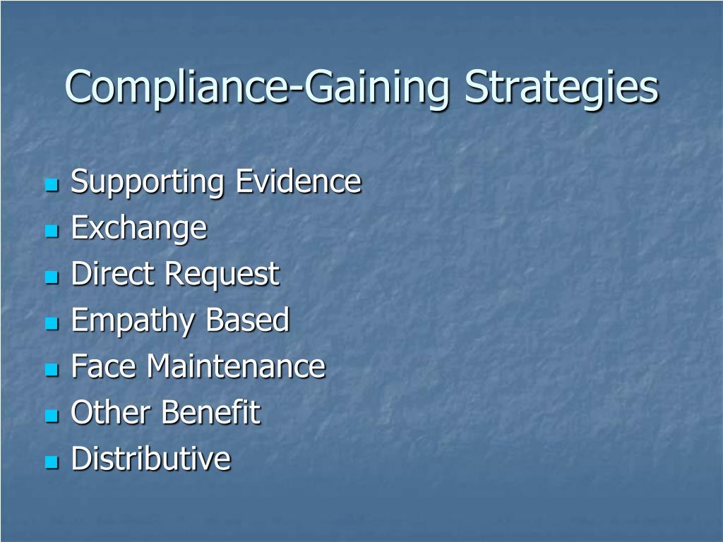 Compliance-Gaining Strategies