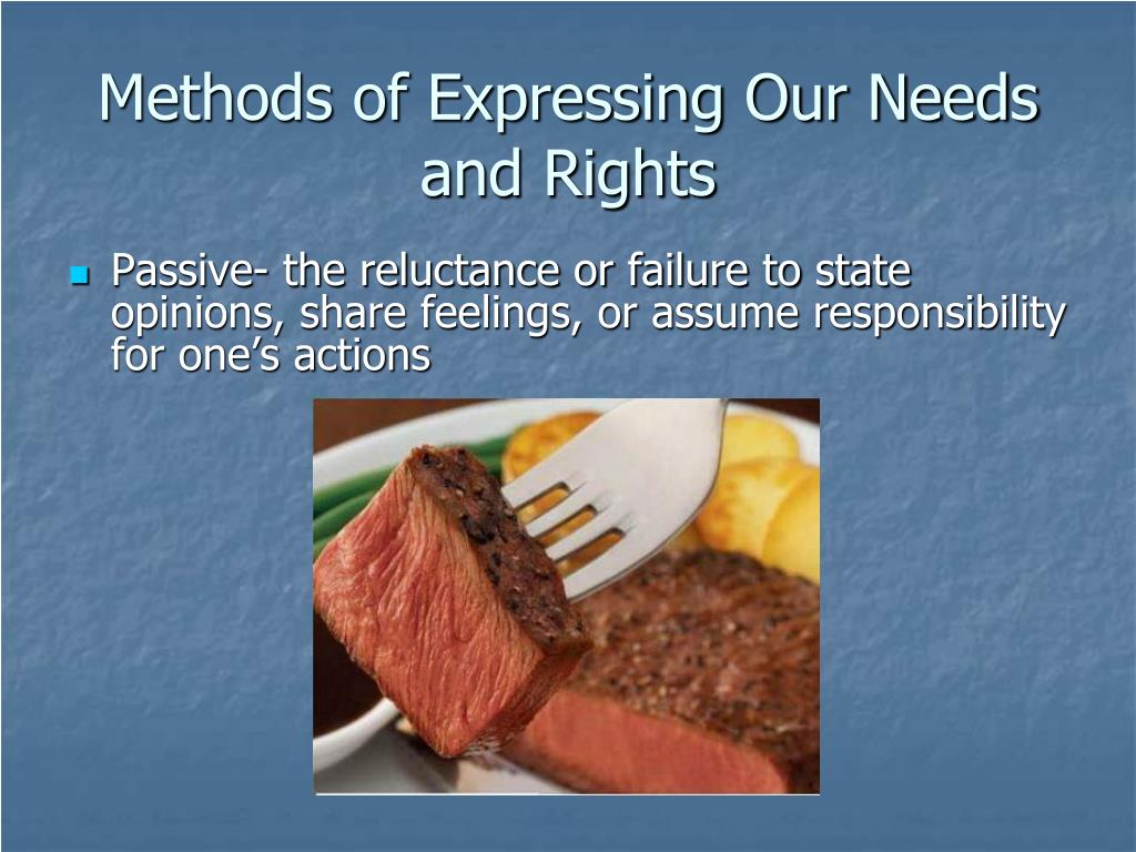 Methods of Expressing Our Needs and Rights