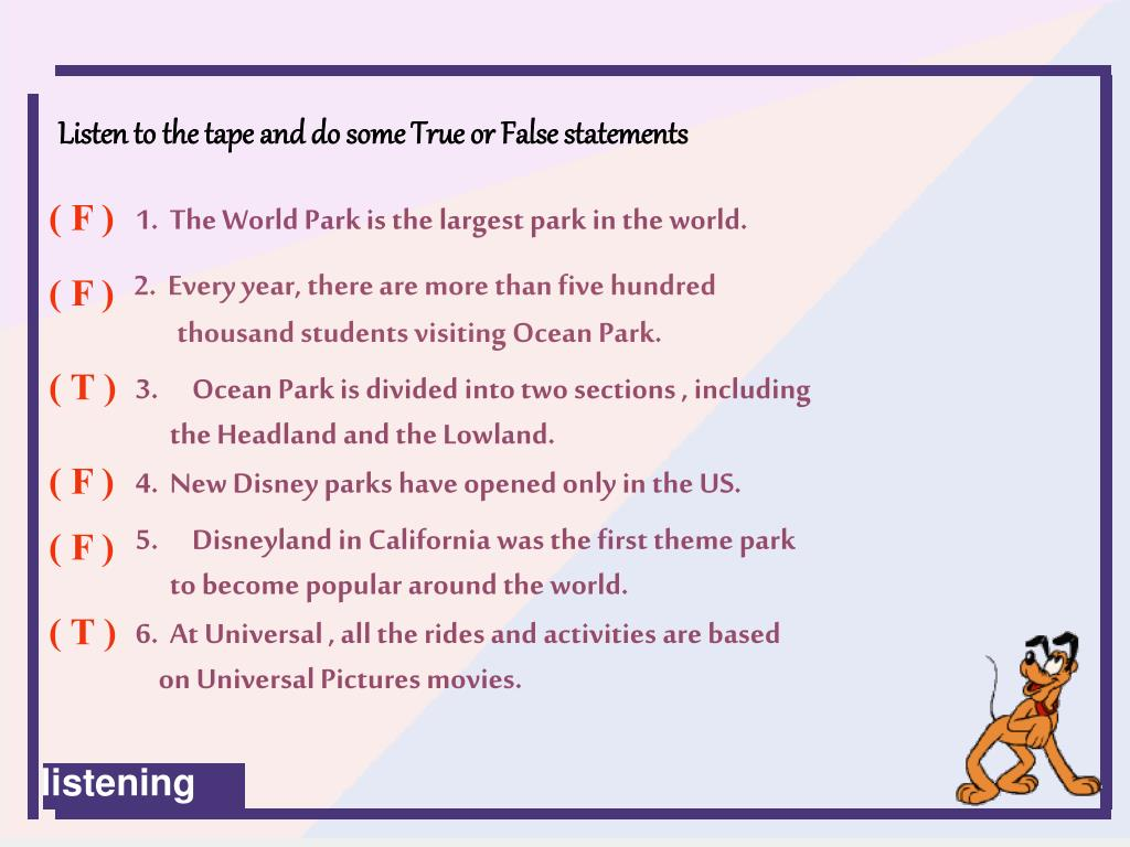 1.  The World Park is the largest park in the world.