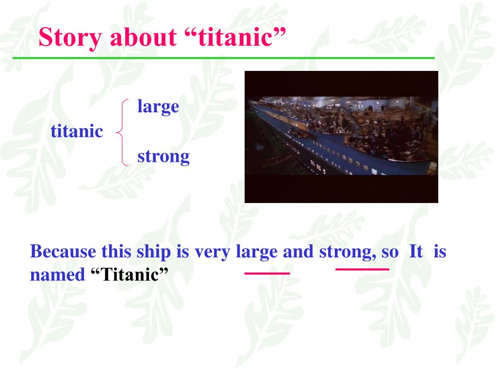 "Story about ""titanic"""