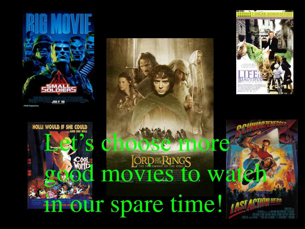 Let's choose more good movies to watch in our spare time!