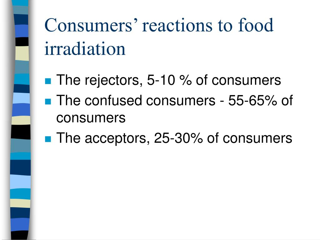 Consumers' reactions to food irradiation