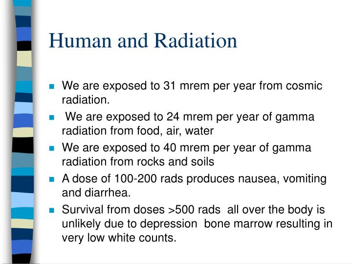 Human and radiation
