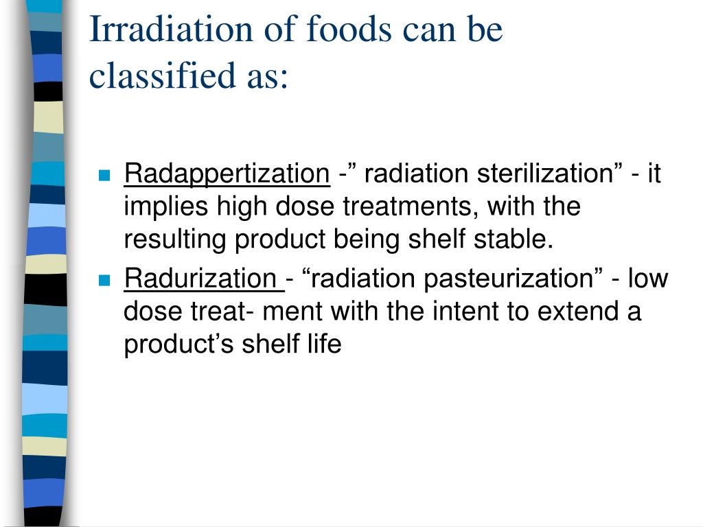 Irradiation of foods can be