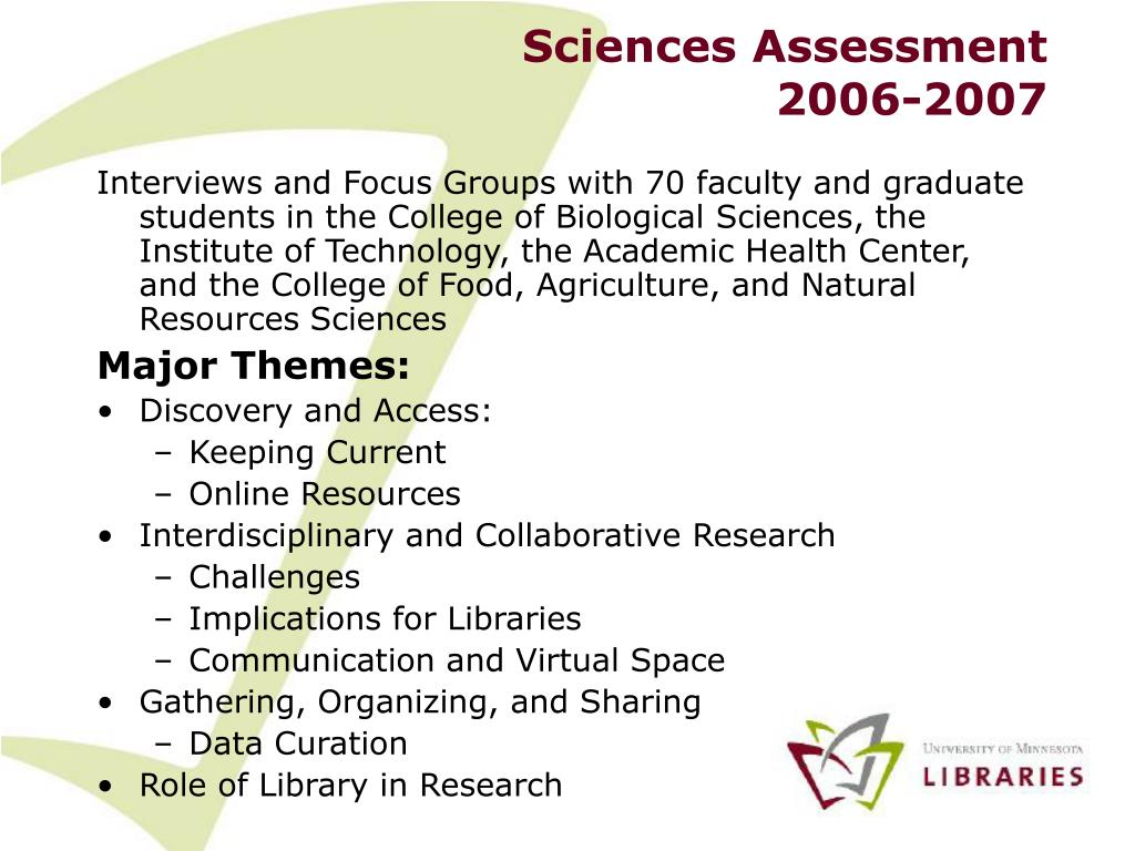 Sciences Assessment