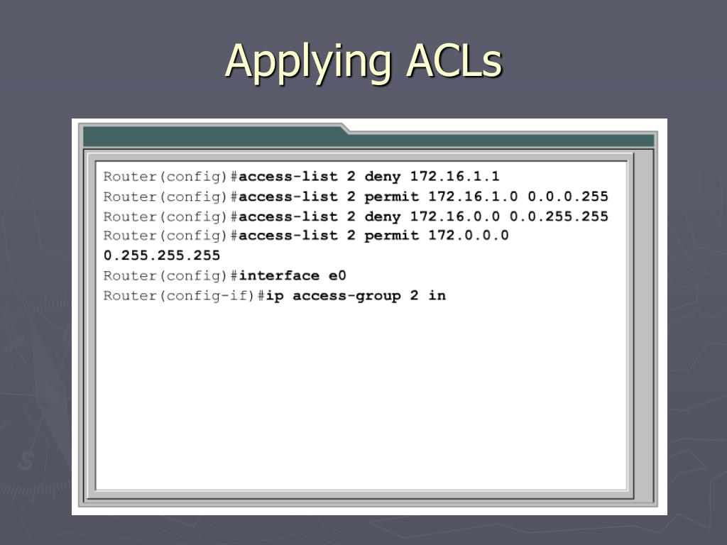 Applying ACLs