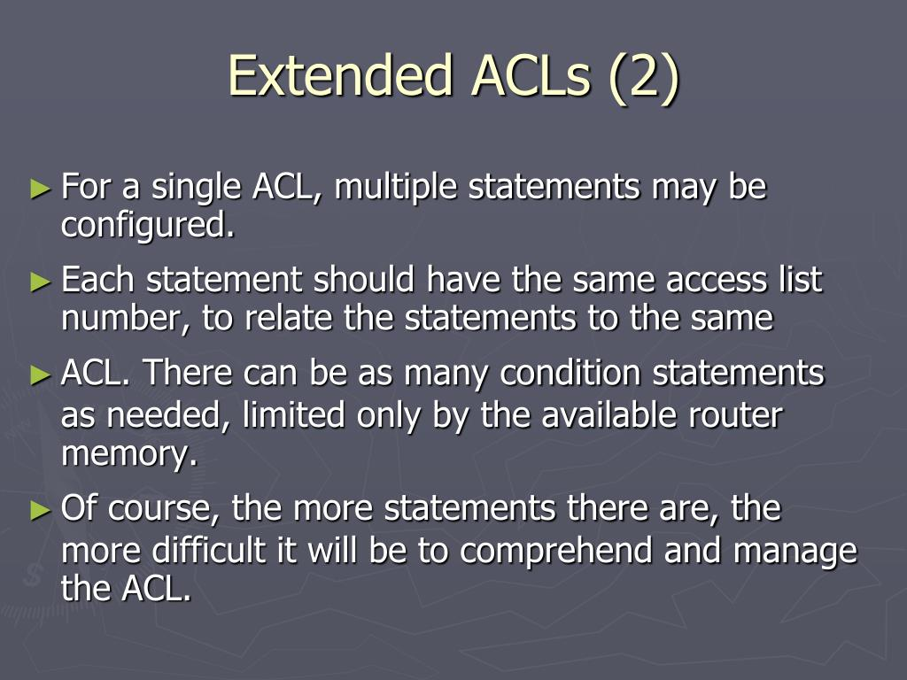 Extended ACLs (2)