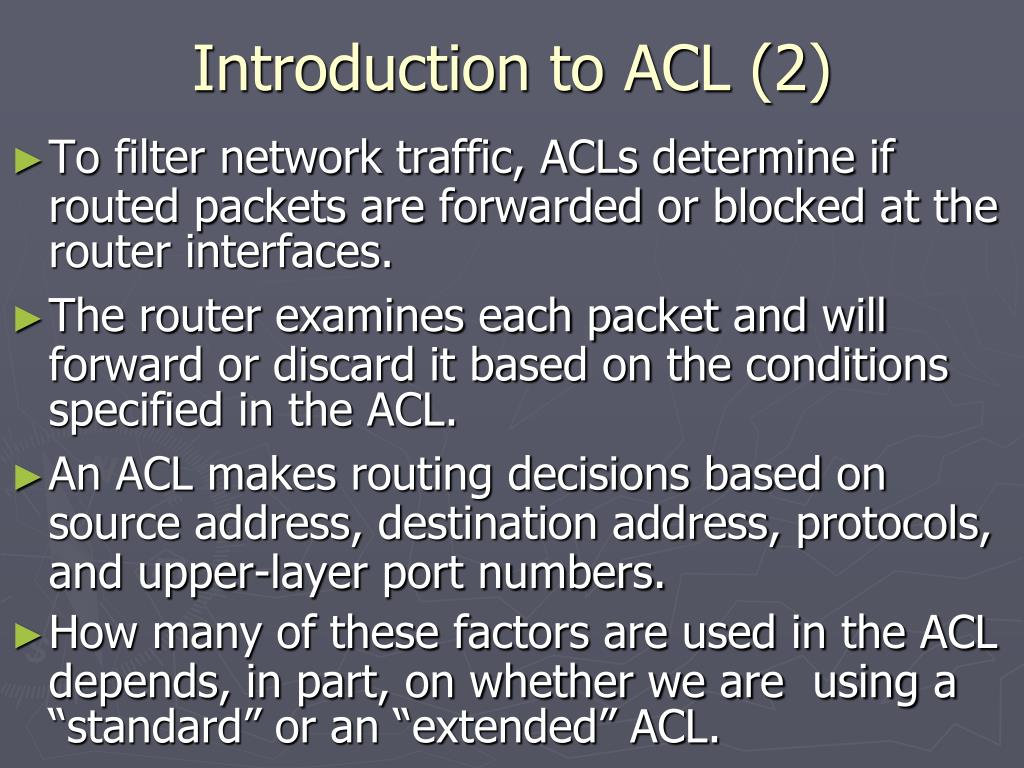 Introduction to ACL (2)