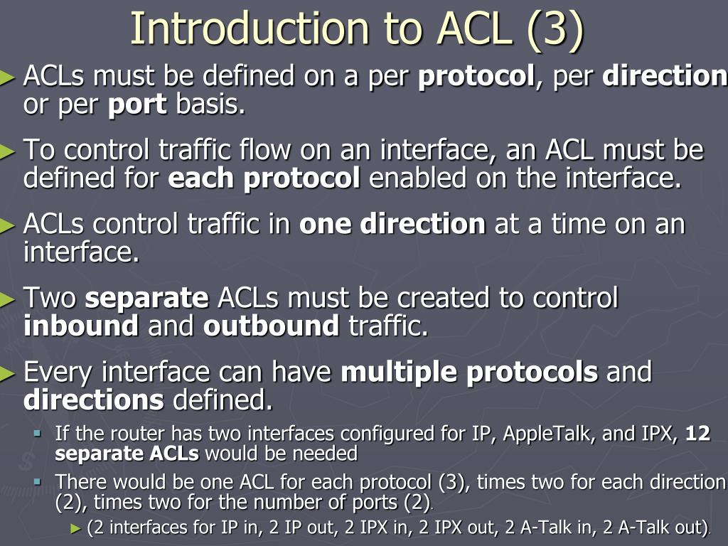 Introduction to ACL (3)