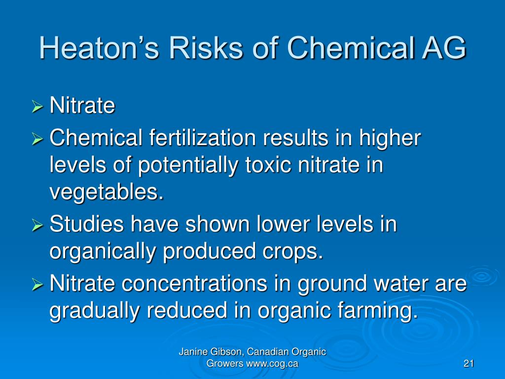 Heaton's Risks of Chemical AG
