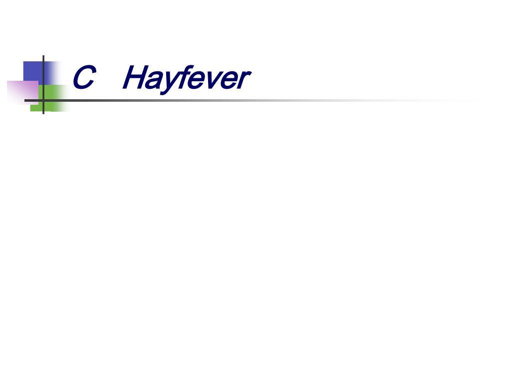 CHayfever