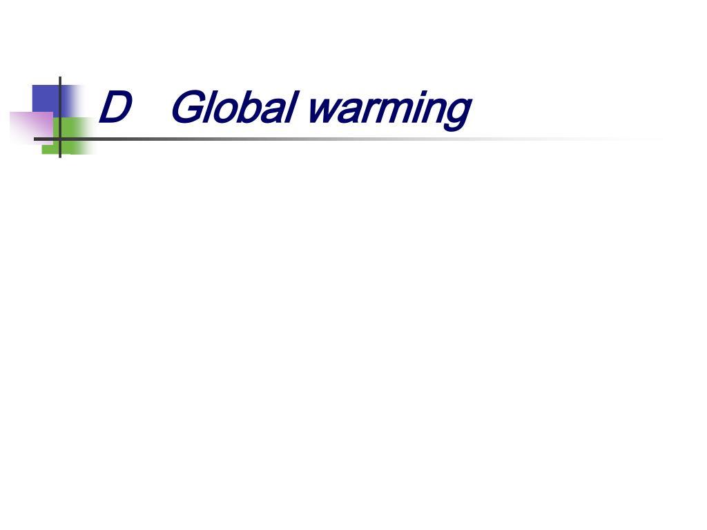 DGlobal warming