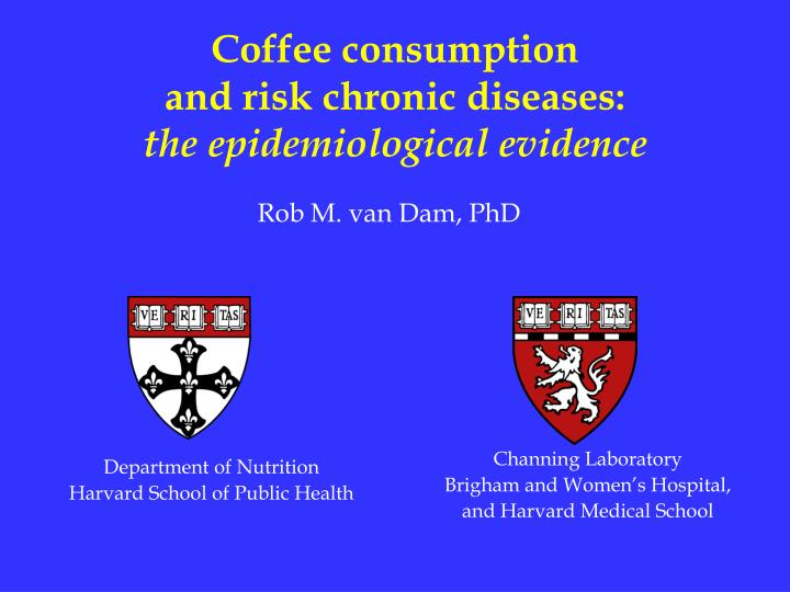 Coffee consumption and risk chronic diseases the epidemiological evidence