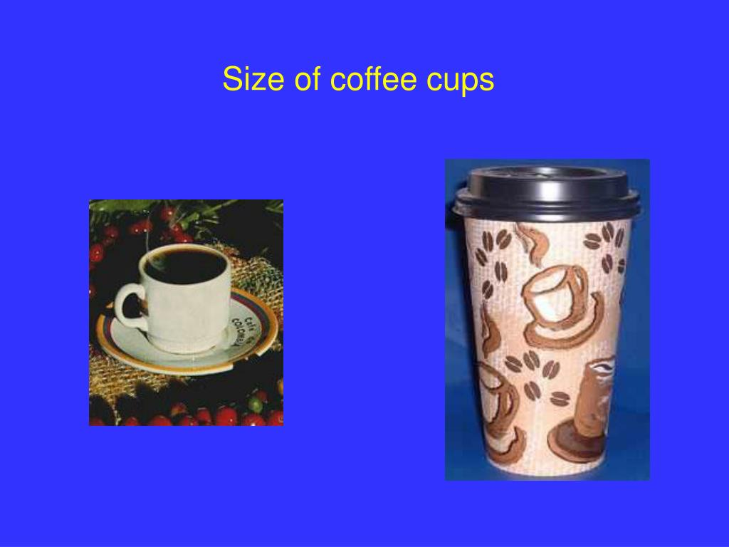 Size of coffee cups