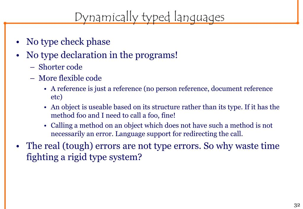 Dynamically typed languages
