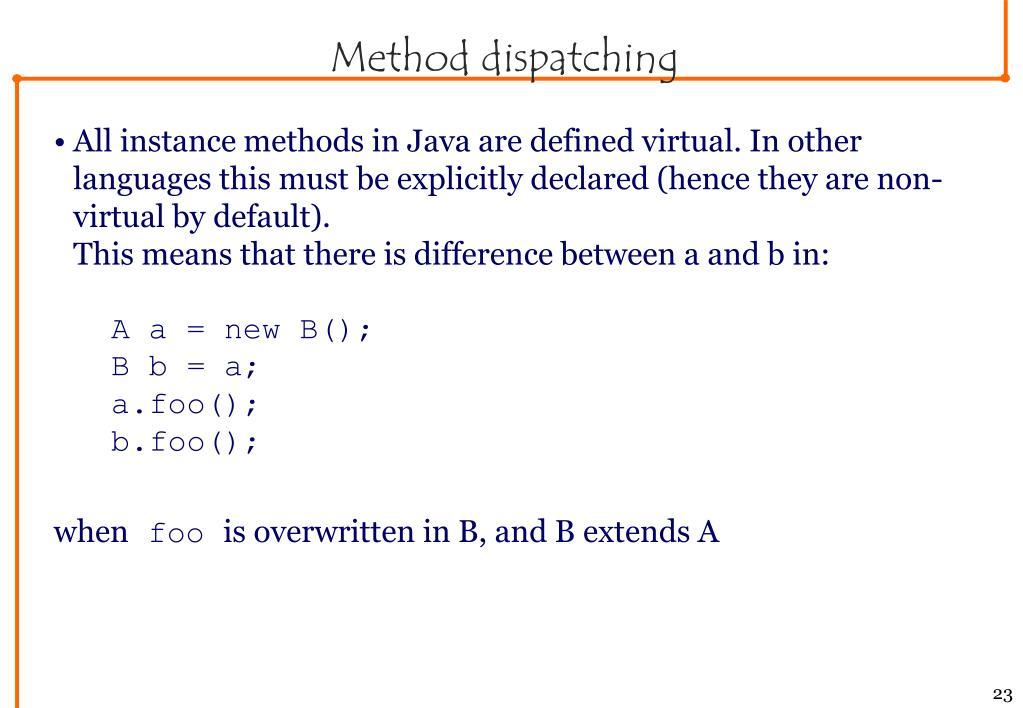 Method dispatching