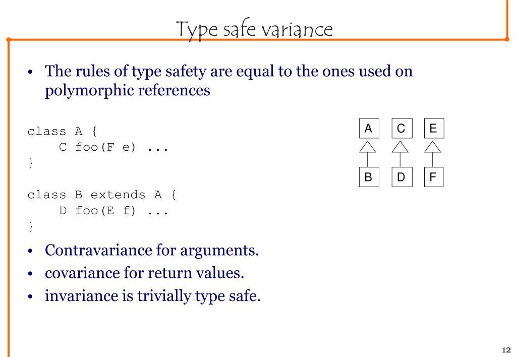 Type safe variance
