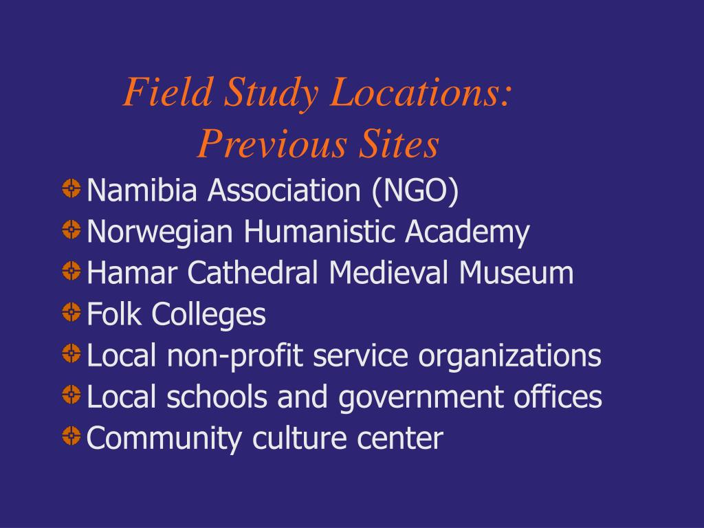 Field Study Locations: