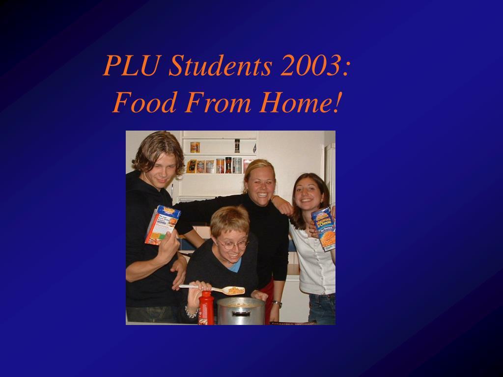 PLU Students 2003:
