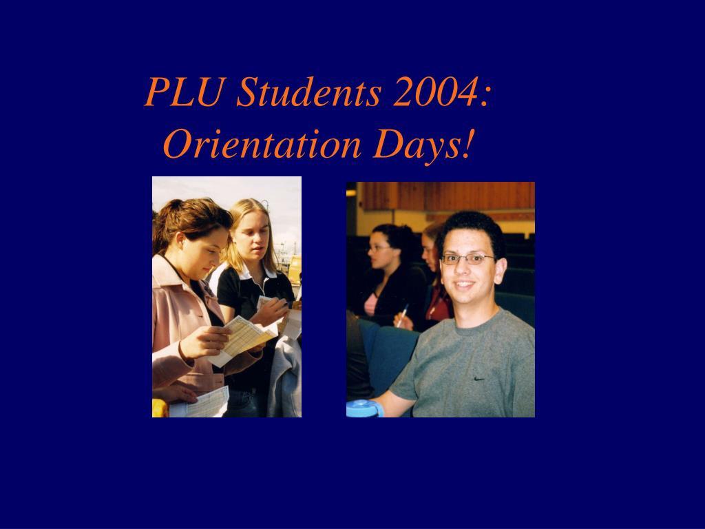 PLU Students 2004: