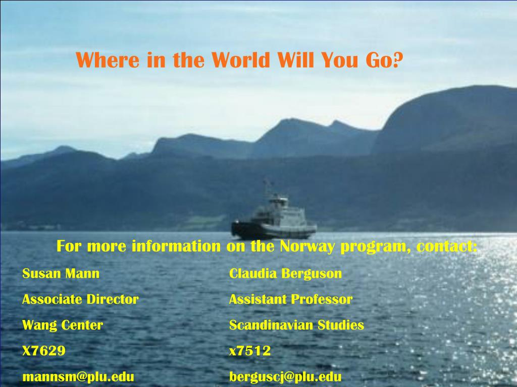 Where in the World Will You Go?