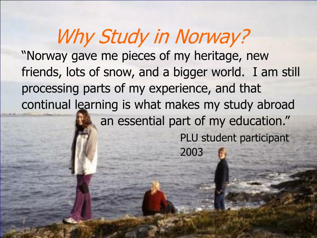 Why Study in Norway?