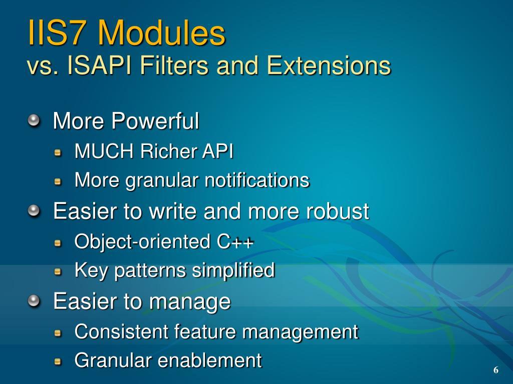 IIS7 Modules