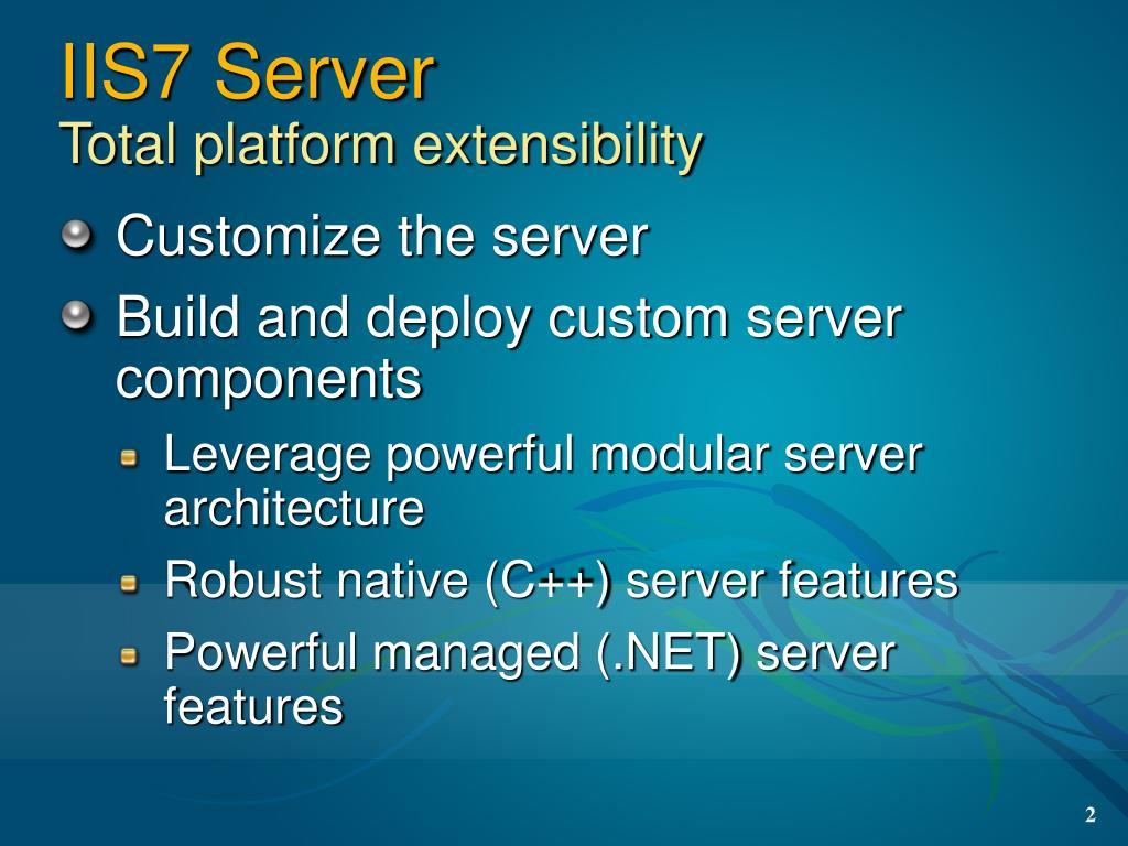 IIS7 Server