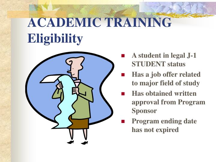 ACADEMIC TRAINING Eligibility