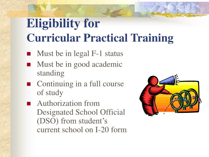 Eligibility for