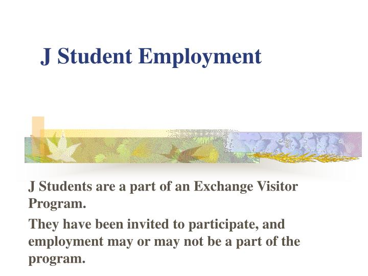 J Student Employment