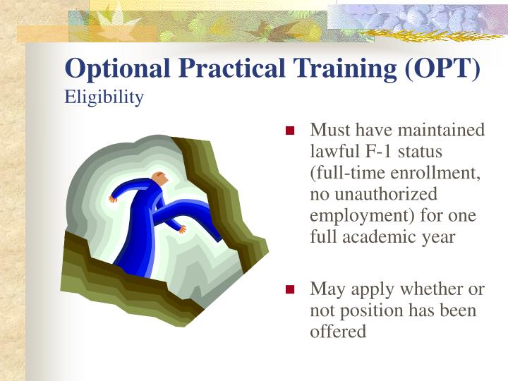 Optional Practical Training (OPT)