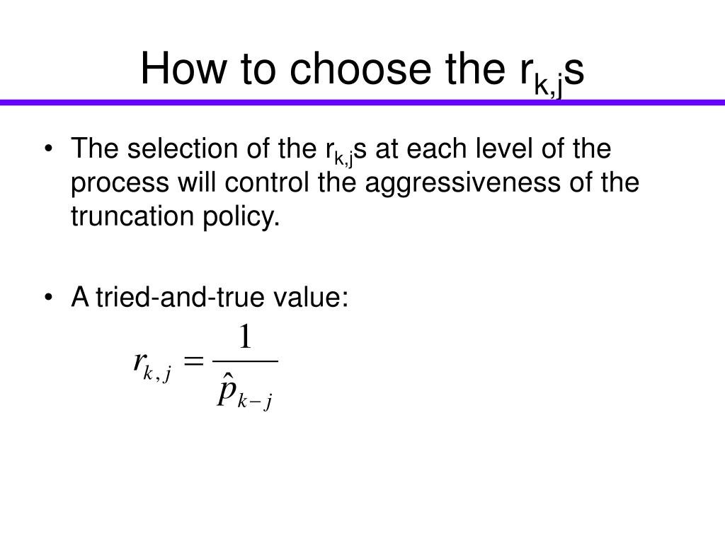How to choose the r