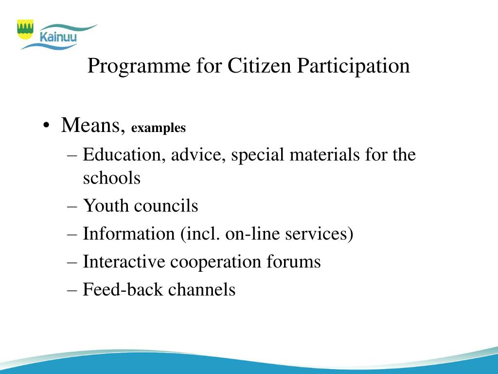 Programme for Citizen Participation