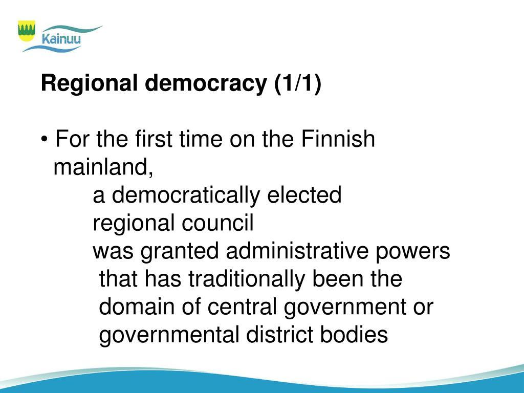 Regional democracy (1/1)