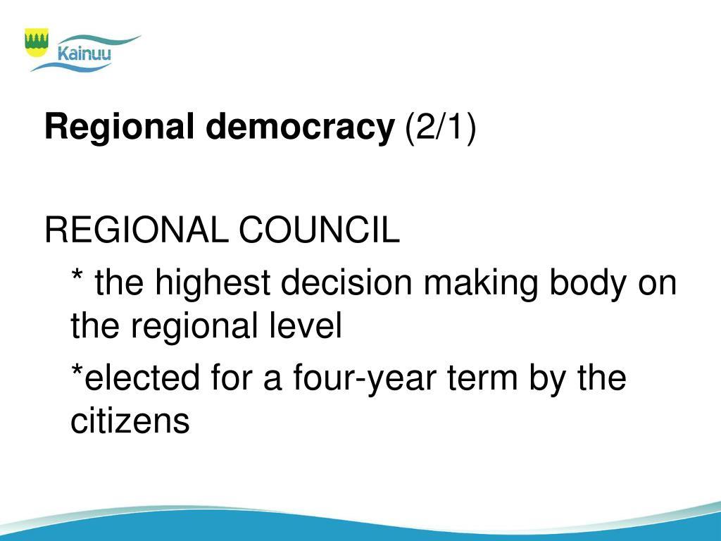 Regional democracy