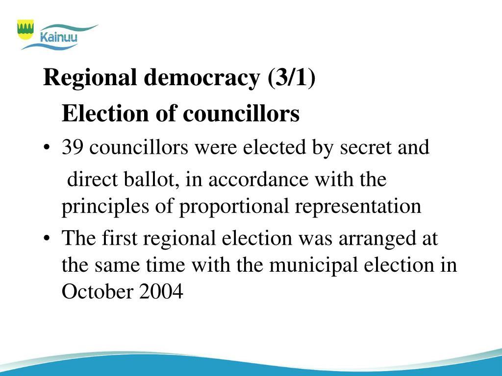 Regional democracy (3/1)