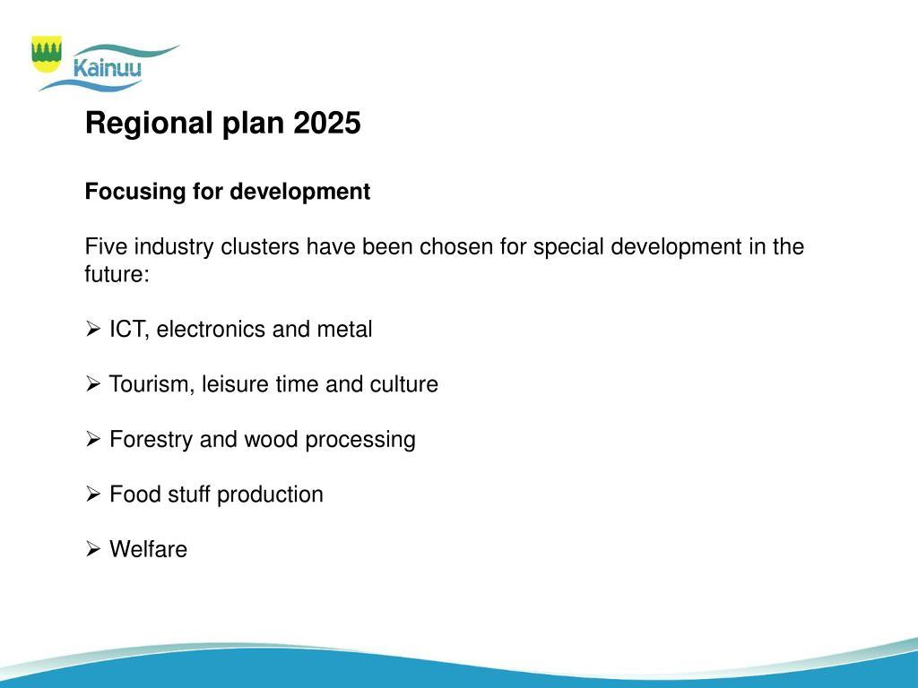 Regional plan 2025