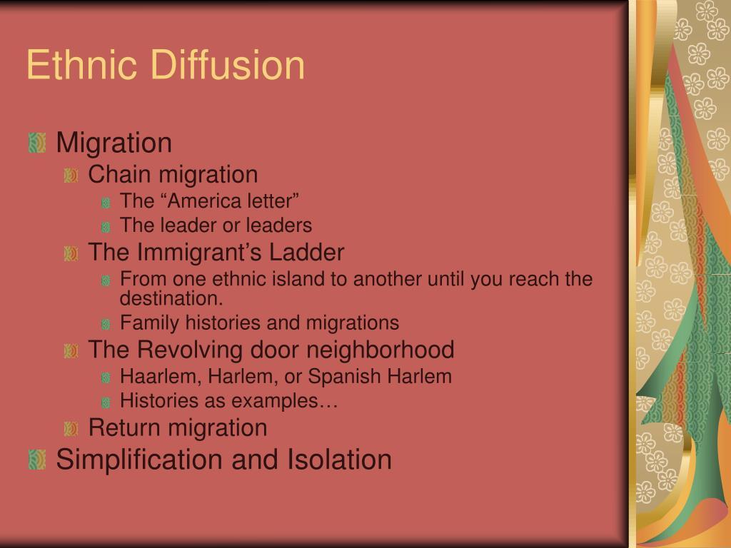 Ethnic Diffusion