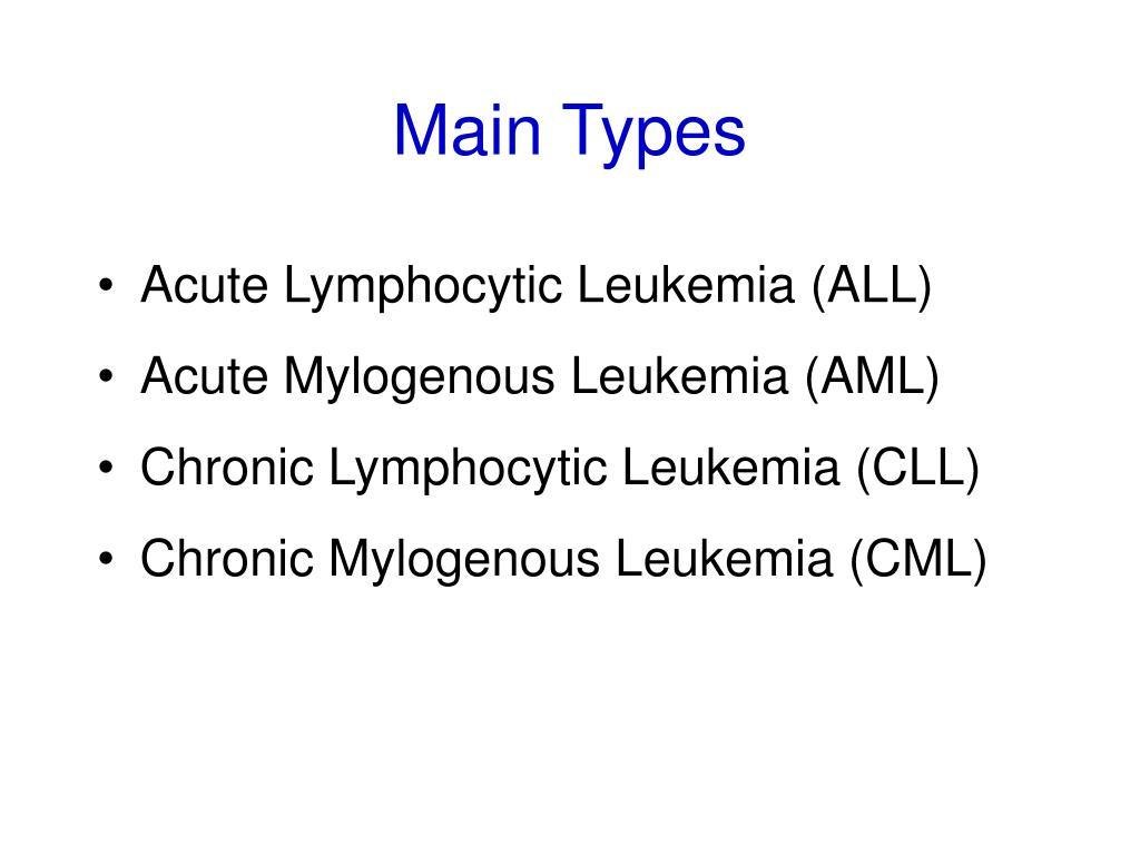 Main Types