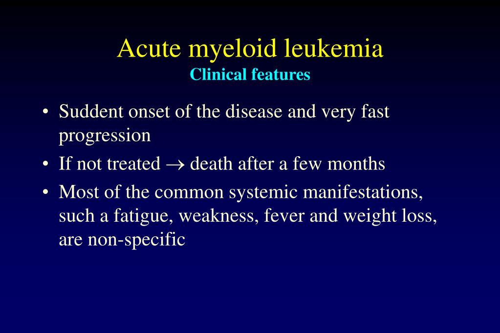 Acute myeloid leukemia