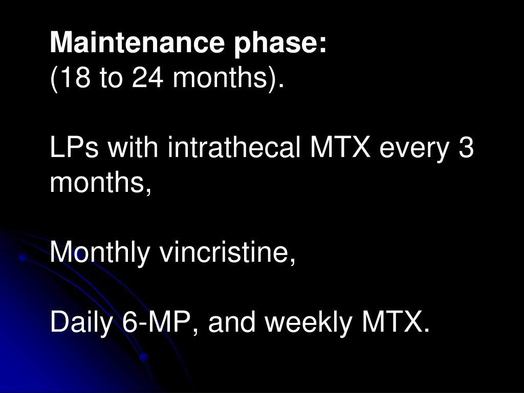 Maintenance phase: