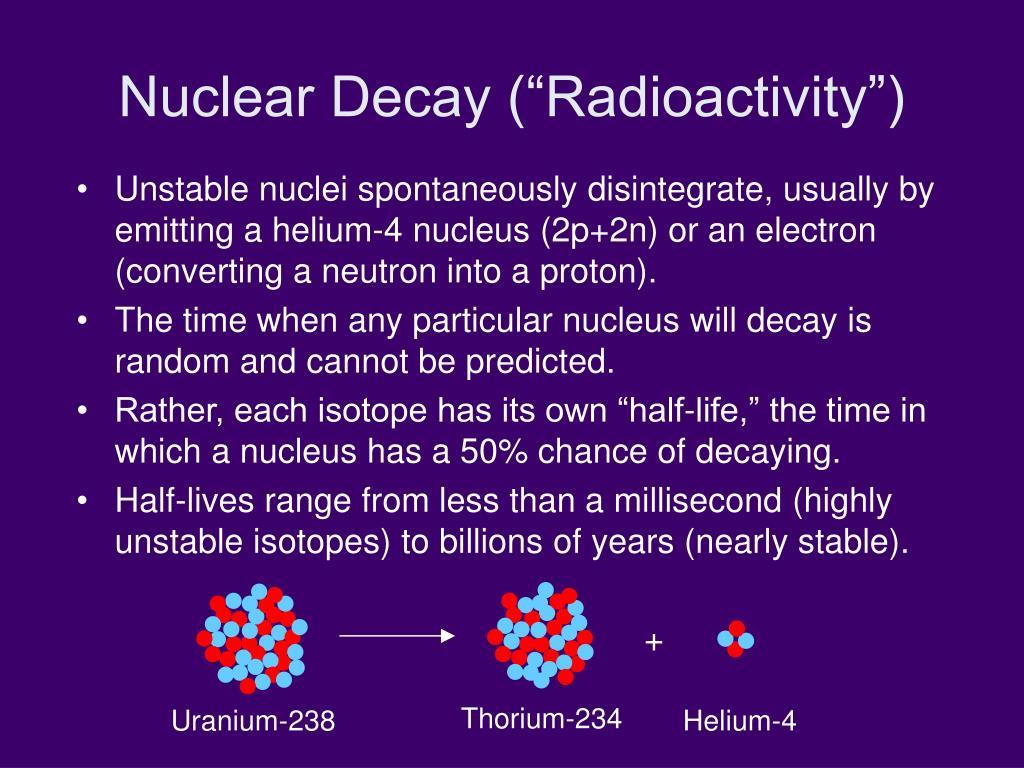 "Nuclear Decay (""Radioactivity"")"