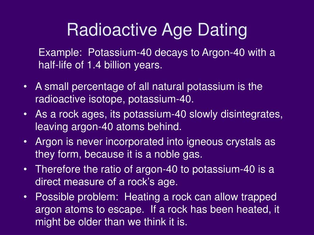 Radioactive Age Dating