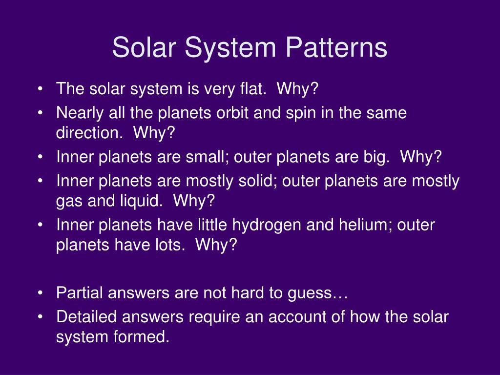 Solar System Patterns