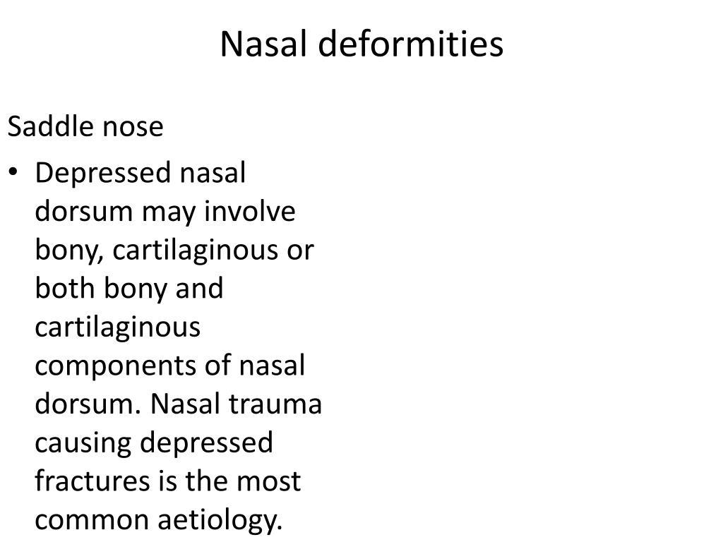 Nasal deformities
