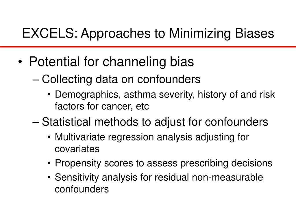 EXCELS: Approaches to Minimizing Biases