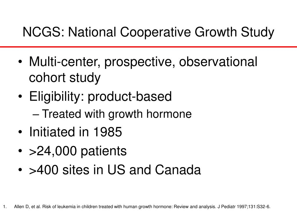 NCGS: National Cooperative Growth Study